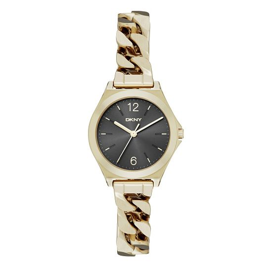 Dkny Parsons Ladies' Gold Tone Black Bracelet Watch - Product number 3910296
