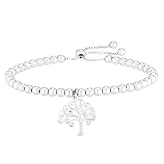 Tree of Life Design Silver Charm Adjustable Bracelet - Product number 3912256