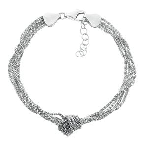 Silver Multi Strand Knot and Link Bracelet - Product number 3912329
