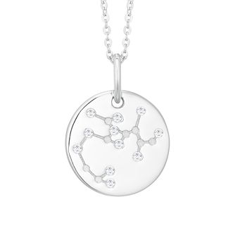 Silver Constellation Sagittarius 15mm Cubic Zirconia Pendant - Product number 3912566