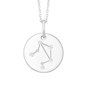 Silver Constellation Libra 15mm Cubic Zirconia Pendant - Product number 3912582