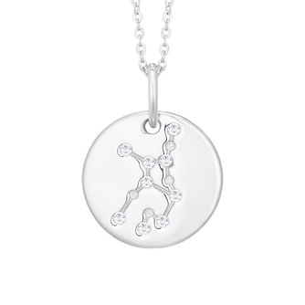 Silver Constellation Virgo 15mm Cubic Zirconia Pendant - Product number 3912639