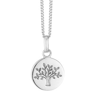 Tree of Life Design Silver Disc Pendant - Product number 3913546