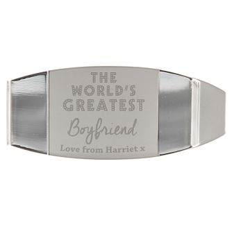 Personalised 'World's Greatest' Money Clip - Product number 3913597