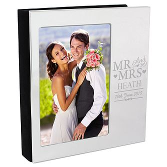 Personalised Mr & Mrs Photo Frame Album 4x6 - Product number 3913813