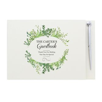 Personalised Fresh Botanical Guest Book & Pen - Product number 3913848