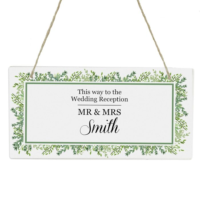 Personalised Fresh Botanical Wooden Sign - Product number 3914054