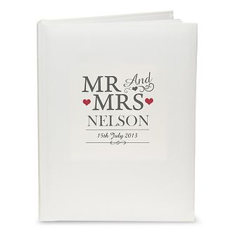 Personalised Mr & Mrs Traditional Album - Product number 3914364