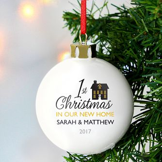 Personalised 1st Christmas in Our New Home Bauble - Product number 3914429