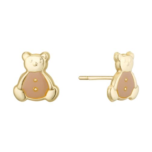 9ct Yellow Gold Children's Teddy Bear Earrings - Product number 3915875