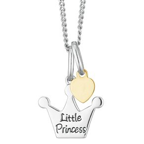 Sterling Silver & 9ct Gold Children's Princess Pendant - Product number 3916065