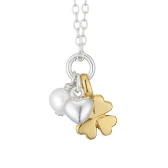 Sterling Silver Children's Three Charm Pendant - Product number 3916103