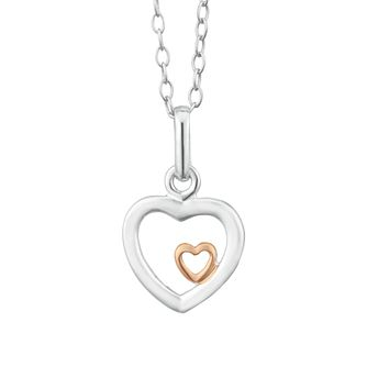 Sterling Silver Children's Open Heart Pendant - Product number 3916278