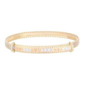 9ct Three Tone Gold Children's Expandable Bangle - Product number 3916294