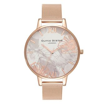 Olivia Burton Abstract Florals Ladies' White Strap Watch - Product number 3920550