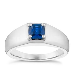 Silver Created Sapphire Ring - Product number 3925226