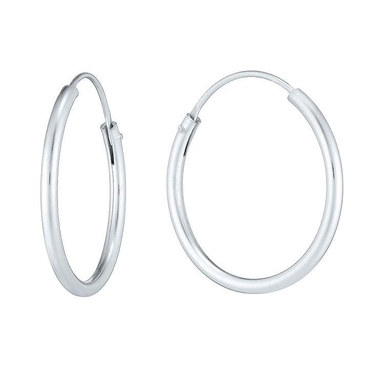 Sterling Silver 20mm Hoop Earrings