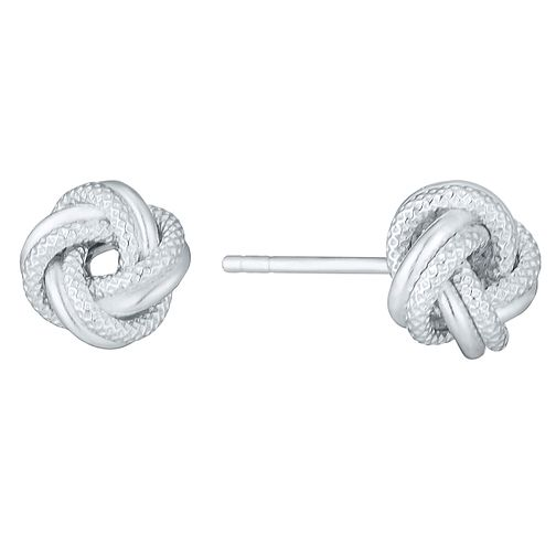 Sterling Silver Fancy Knot Stud Earrings - Product number 3926206