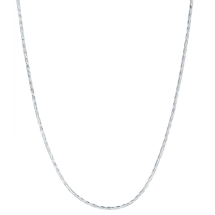"Sterling Silver 18"" Glitz Chain Necklace - Product number 3926389"