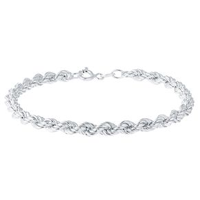 Sterling Silver Large Rope Bracelet - Product number 3926451