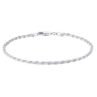 Sterling Silver Small Rope Bracelet - Product number 3926478