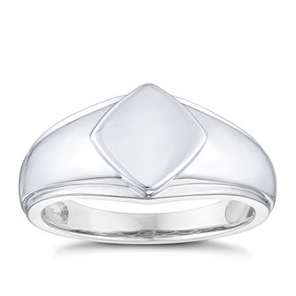 Silver Plain Square Face Ring - Product number 3931129