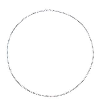 "Sterling Silver 22"" Veneziana Box Chain Necklace - Product number 3931552"