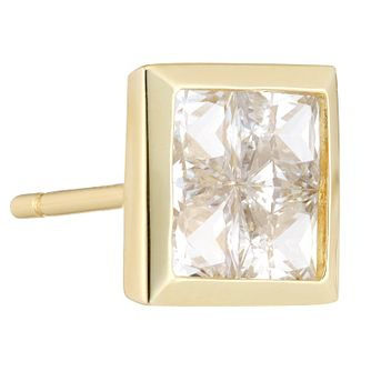 9ct Yellow Gold Cubic Zirconia Single Stud Earring - Product number 3931706