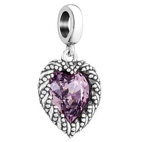 Chamilia Amethyst Crystal Heart Bead - Product number 3932567