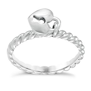 Chamilia Heart Lock Ring XS - Product number 3932826