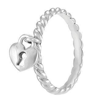 Chamilia Heart Lock Ring Medium - Product number 3932842
