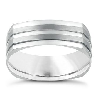 Titanium Matte Men's Polished Ring - Product number 3937836