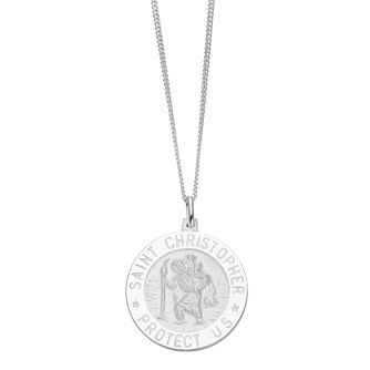 Sterling Silver Men's St Christopher Pendant - Product number 3939057