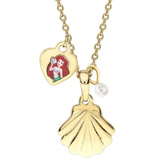 Disney Little Mermaid Children's Gold Plated Shell Pendant - Product number 3941086