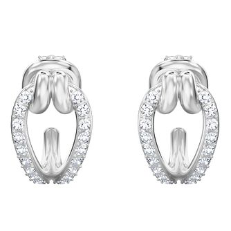 Swarovski Ladies Rhodium Plated Lifelong Earrings Small - Product number 3941159