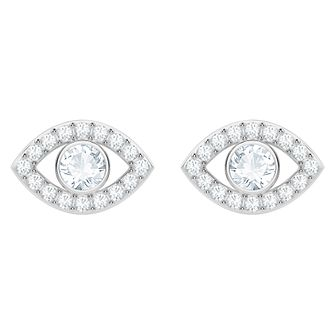 Swarovski Ladies' Rhodium Plated Evileye Earrings - Product number 3941221
