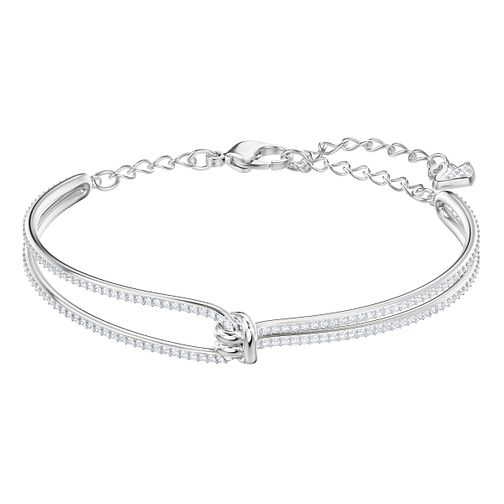 Swarovski Ladies' Rhodium Plated Lifelong Bangle - Product number 3941434