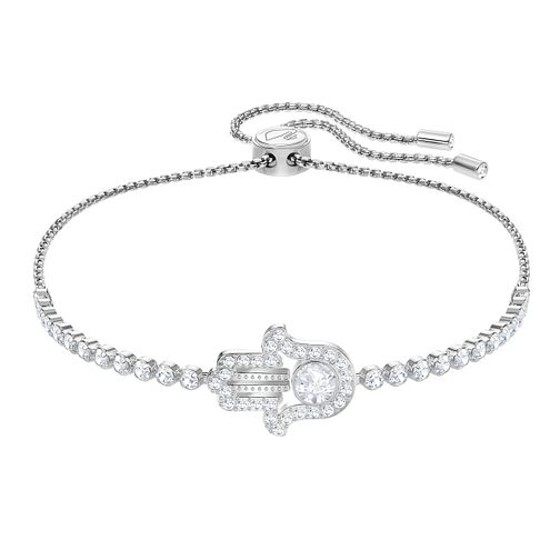Swarovski Subtle Hamsa Ladies' Rhdoium Plated Bracelet - Product number 3941582