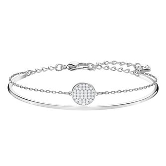 Swarovski Ladies' Rhodium Plated Ginger Bangle - Product number 3941663