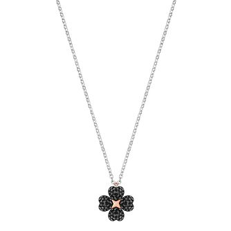 Swarovski Latisha Ladies' Black Floral Necklace - Product number 3941698