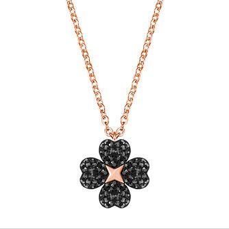 Swarovski Latisha Ladies' Rose Gold Plated Black Necklace - Product number 3941787