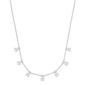 Swarovski Ladies' Rhodium Plated Attract Choker Necklace - Product number 3941841