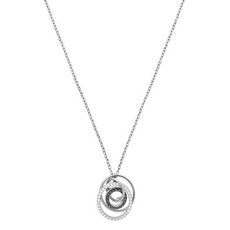 Swarovski Greeting Pendant Ladies' Rhodium Plated Necklace - Product number 3942260