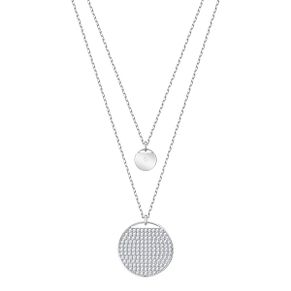 Swarovski Ladies' Rhodium Plated Ginger Layer Necklace - Product number 3942295