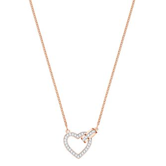 Swarovski Ladies' Rose Gold Plated Lovely Heart Necklace - Product number 3942333