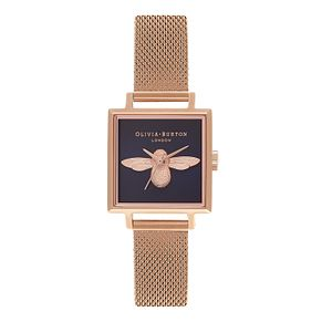 Olivia Burton 3D Bee Rose Gold Metal Plated Bracelet Watch - Product number 3944409