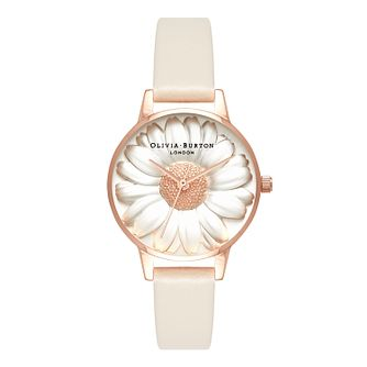Olivia Burton 3D Daisy Rose Gold Metal Plated Strap Watch - Product number 3944468