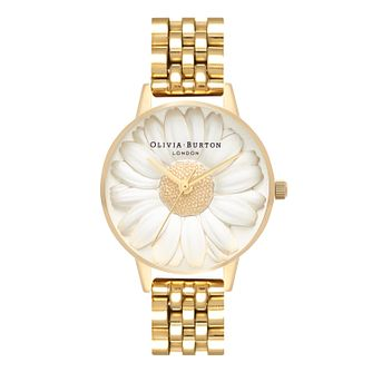 Olivia Burton 3D Daisy Ladies' Gold Plated Bracelet Watch - Product number 3944484