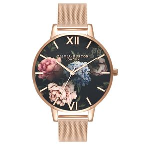 Olivia Burton Dark Bouquet Rose Gold Metal Plated Watch - Product number 3944581