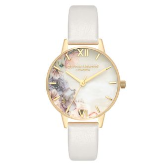 Olivia Burton Watercolour Yellow Gold Metal Plated Watch - Product number 3945154